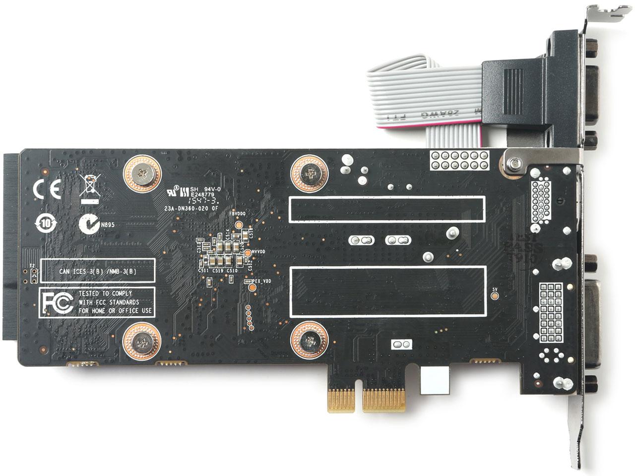 『本体4』 ZOTAC Geforce GT 710 ZONE Edition 1GB ZT-71304-20L [PCIExp 1GB] の製品画像