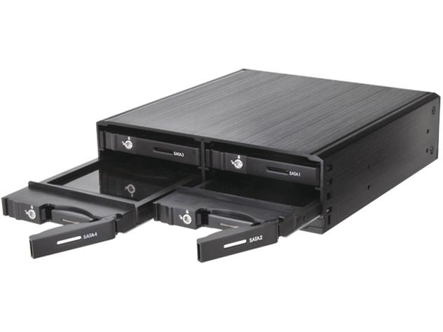 『本体』 5インチベイにまとめるラック SATA 6G(4台タイプ) CMRK-S4S6G の製品画像
