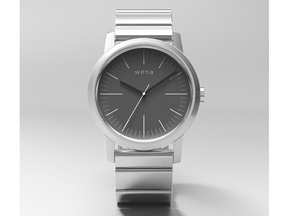 wena wrist Three Hands WN-WT01S [シルバー] の製品画像