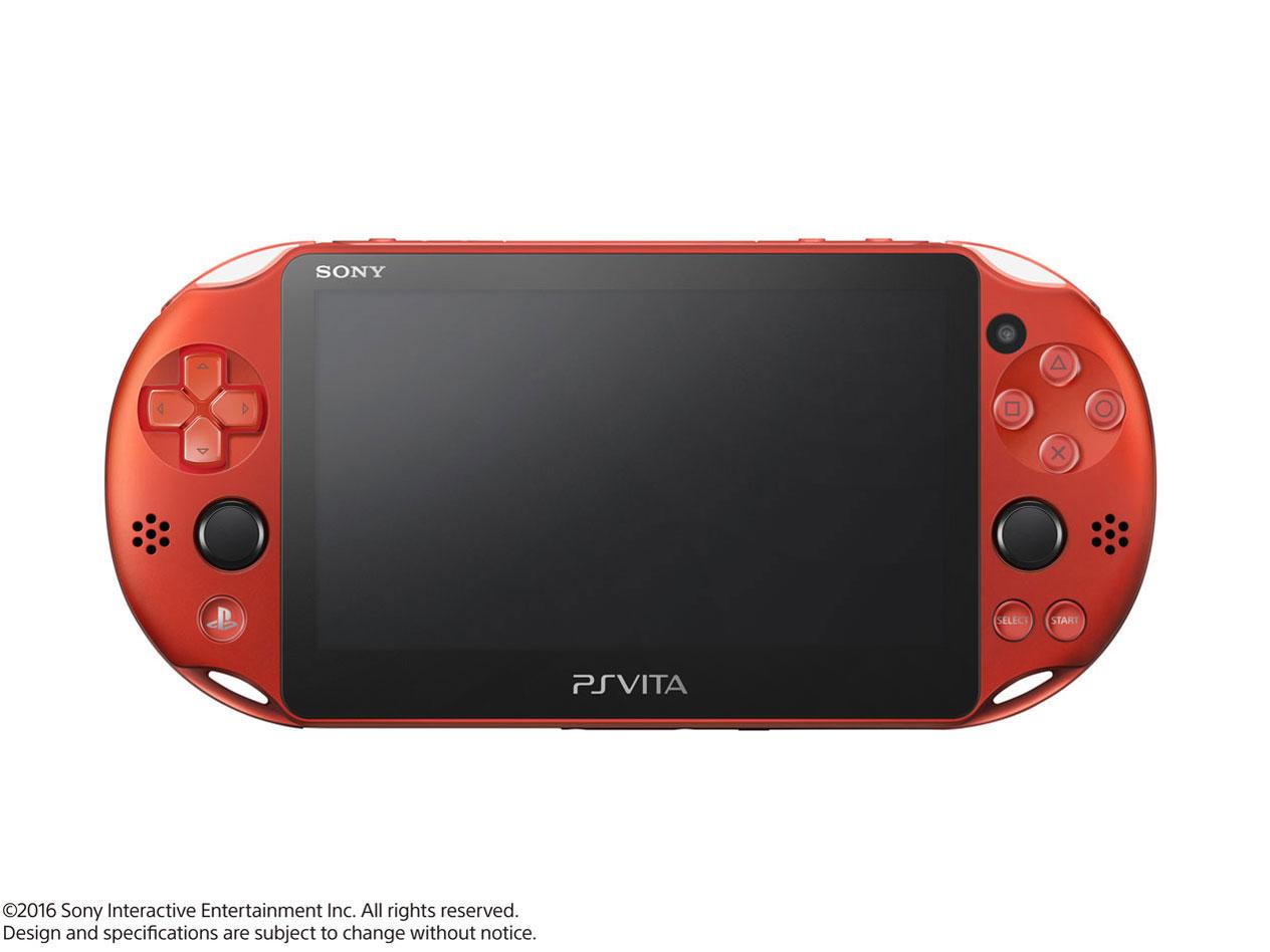 PlayStation Vita (プレイステーション ヴィータ) Wi-Fiモデル PCH-2000 ZA26 [メタリック・レッド] の製品画像