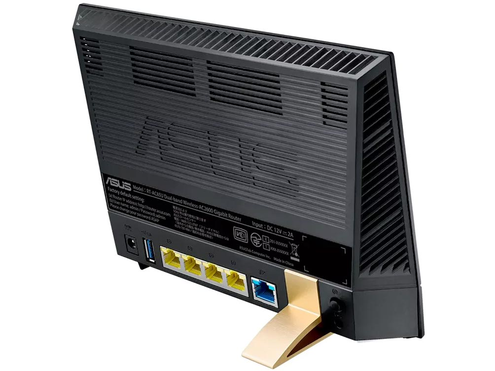 『本体 背面 斜め2』 RT-AC85U の製品画像