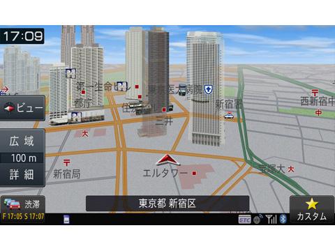 『ルート画面2』 楽ナビ AVIC-RZ700 の製品画像