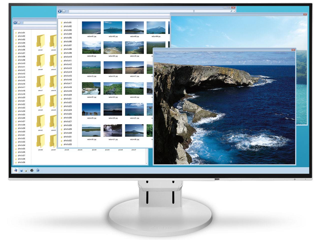 FlexScan EV2451-WT [23.8インチ ホワイト] の製品画像