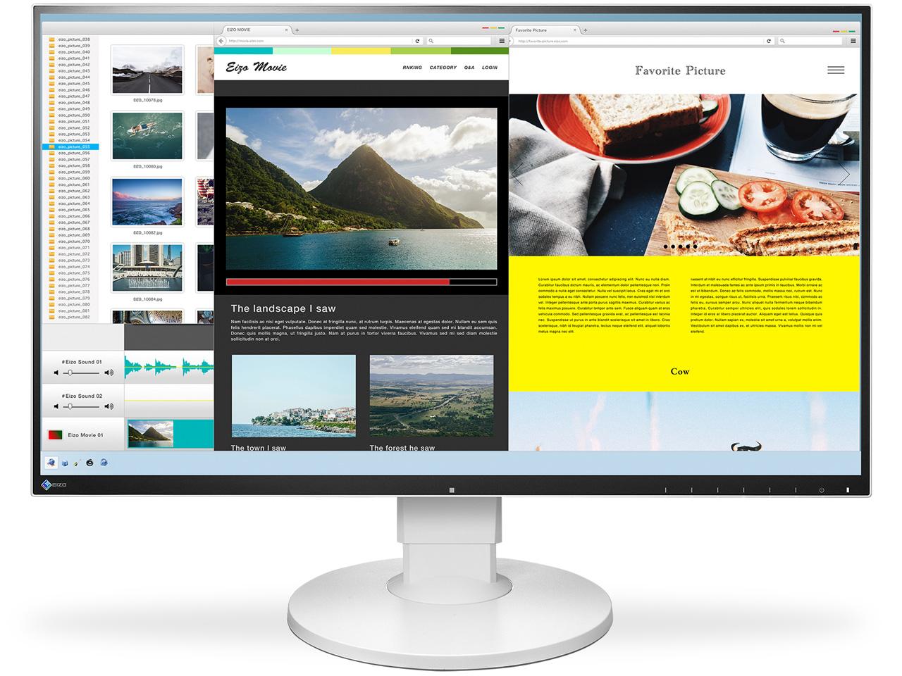 『本体 正面』 FlexScan EV2780-WT [27インチ ホワイト] の製品画像
