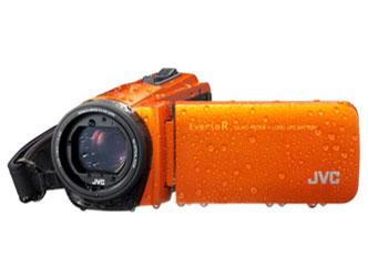 『本体 正面 バリアングル』 Everio R GZ-RX670-D [サンライズオレンジ] の製品画像
