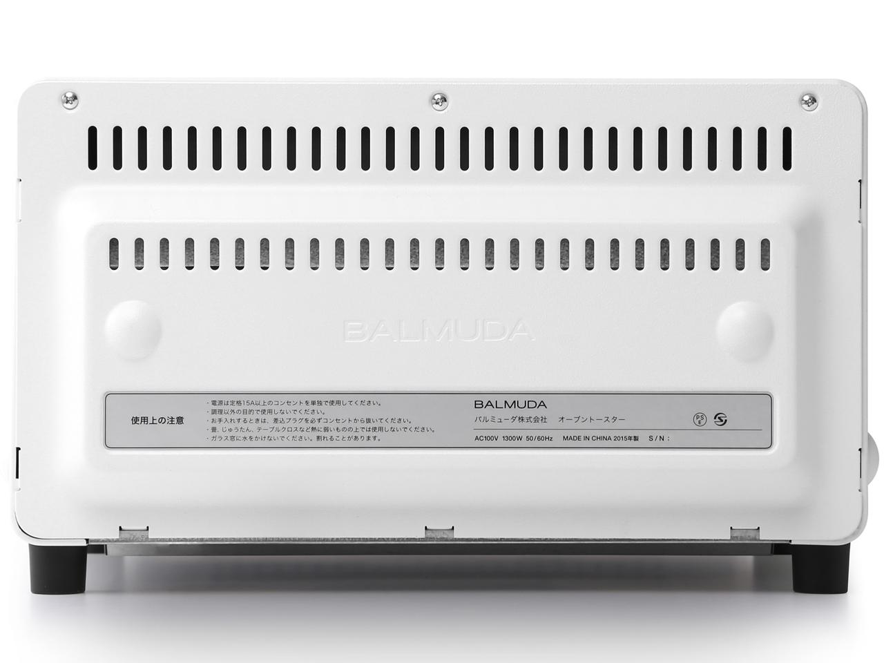 『本体 背面』 The Toaster K01E-WS [ホワイト] の製品画像