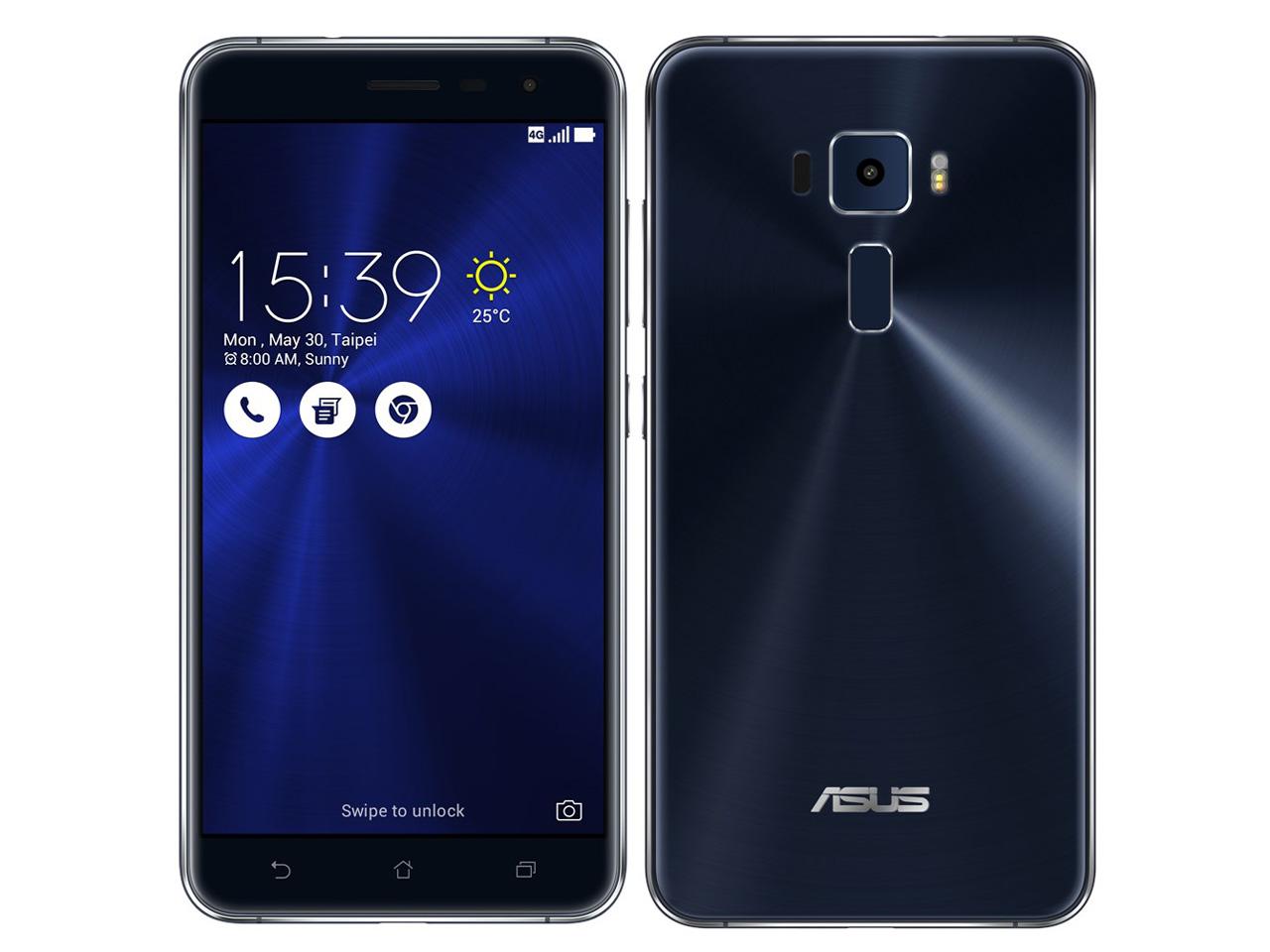 ZenFone 3 ZE552KL-BK64S4 SIMフリー [サファイアブラック] の製品画像