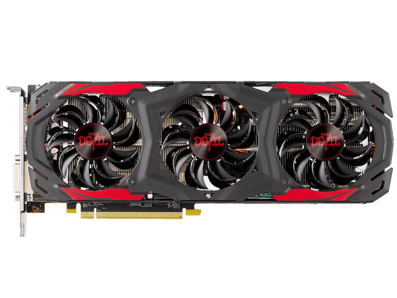 『本体1』 PowerColor Red Devil Radeon RX 570 4GB GDDR5 AXRX 570 4GBD5-3DH/OC [PCIExp 4GB] の製品画像