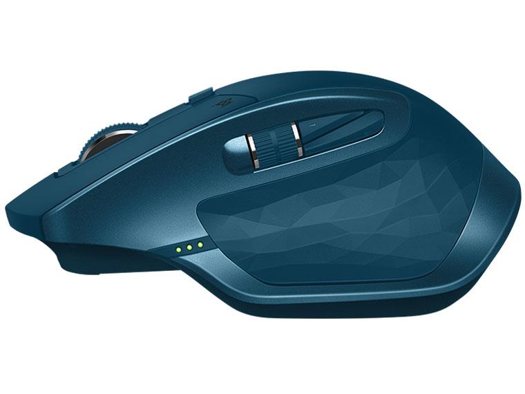 『本体 側面』 MX MASTER 2S Wireless Mouse MX2100sMT [ミッドナイト ティール] の製品画像