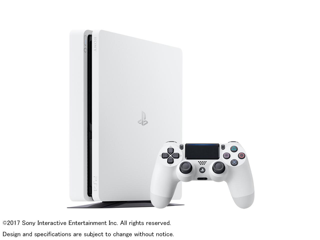『本体 コントローラー1』 プレイステーション4 HDD 500GB グレイシャー・ホワイト CUH-2100AB02 の製品画像