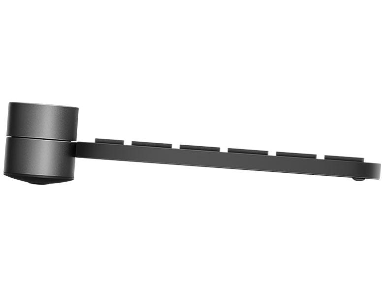 『本体 左側面』 CRAFT KX1000s Multi-Device Wireless Keyboard [ブラック] の製品画像