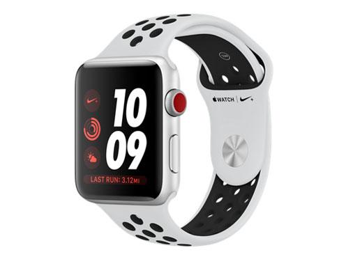Apple Watch Nike+ Series 3 GPS+Cellularモデル 42mm MQME2J/A [ピュアプラチナ/ブラックNikeスポーツバンド] の製品画像