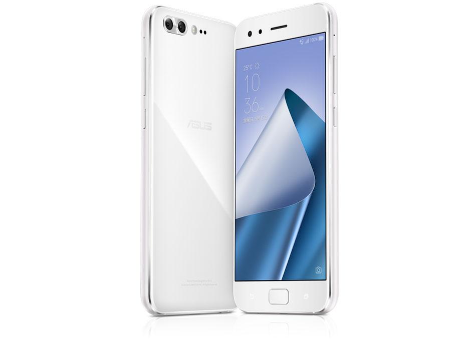 『本体 正面 背面』 ZenFone 4 Pro SIMフリー [ムーンライトホワイト] の製品画像