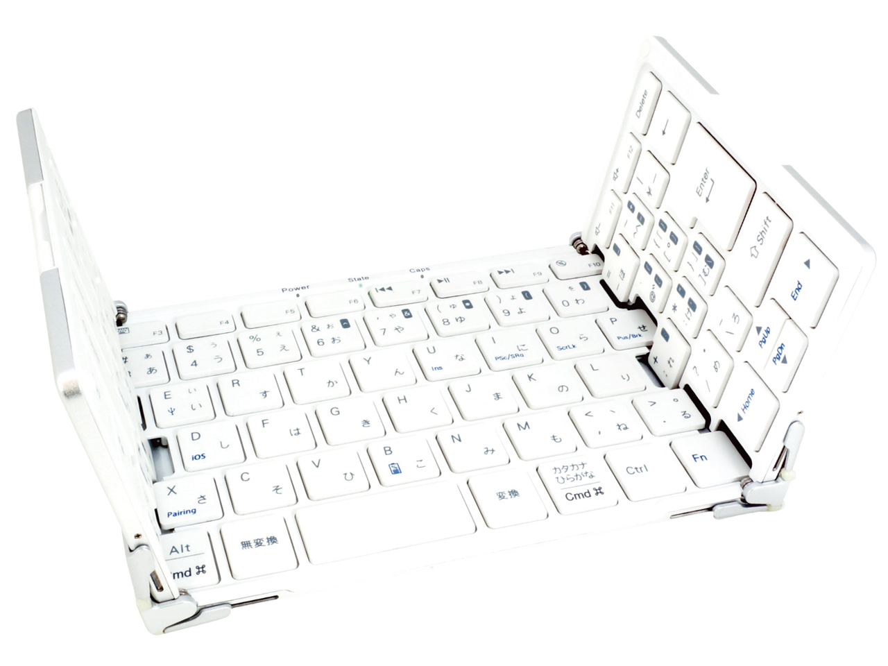 『本体3』 MOBO Keyboard AM-KTF83J-SW [ホワイト] の製品画像