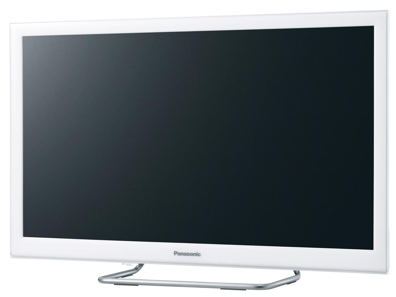 『本体 斜め』 VIERA TH-24ES500-W [24インチ ホワイト] の製品画像