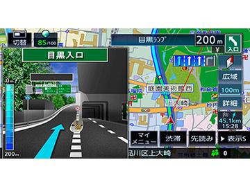『ルート画面1』 彩速ナビ MDV-M705W の製品画像