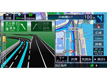 『ルート画面2』 彩速ナビ MDV-M705W の製品画像