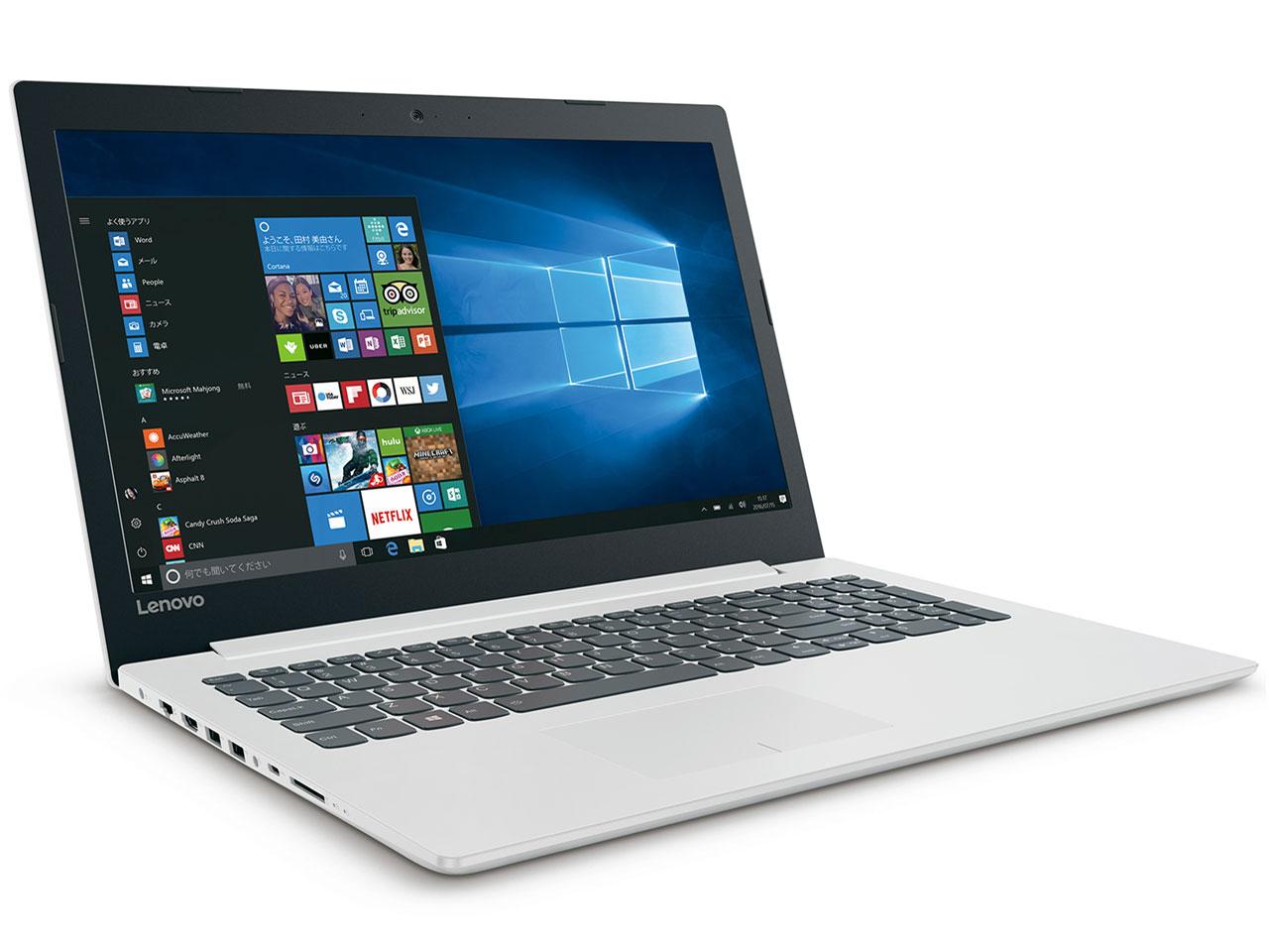 ideapad 320 80XL03A3JP [ブリザードホワイト] の製品画像