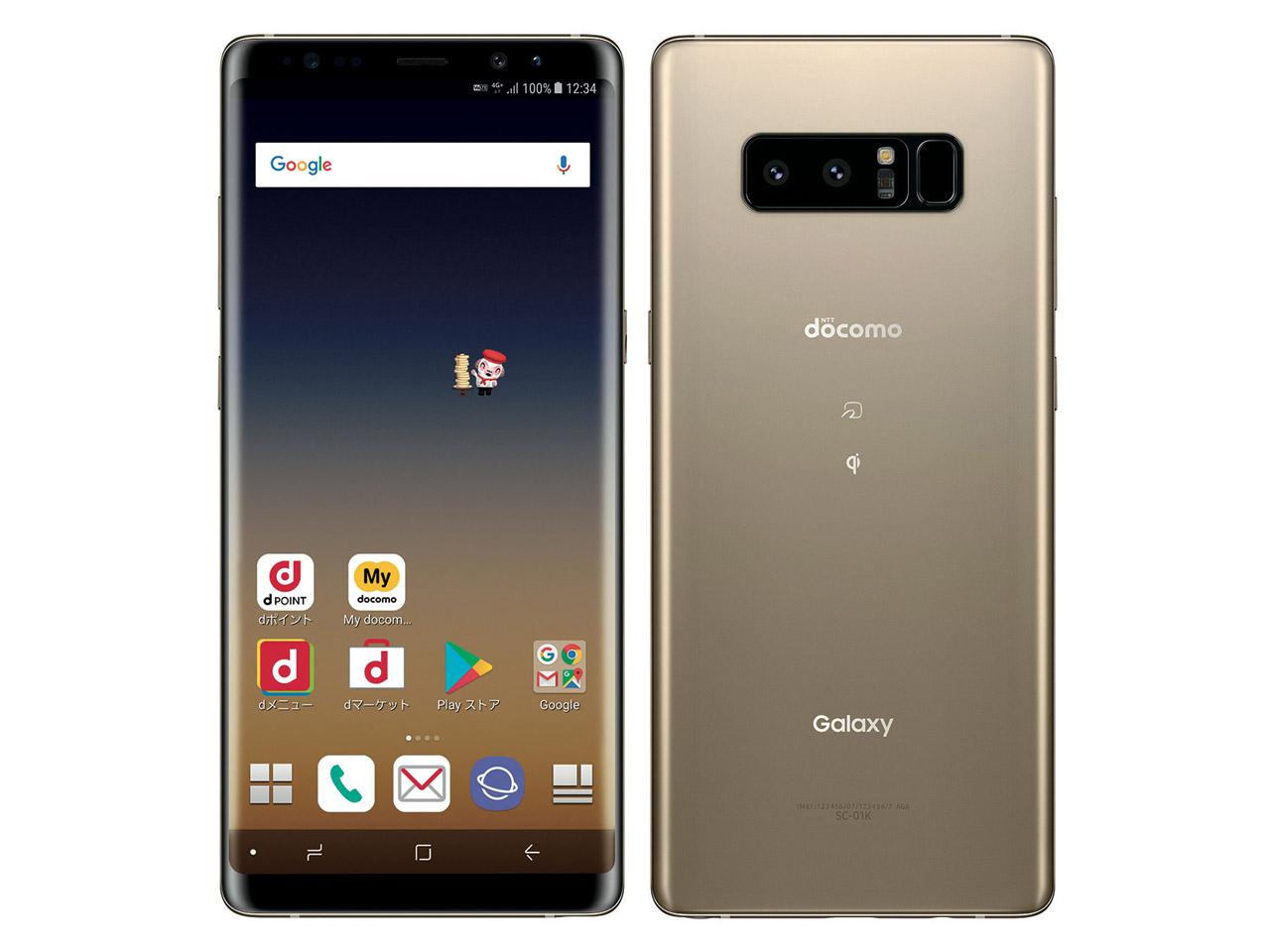 Galaxy Note8 SC-01K docomo [Maple Gold] の製品画像