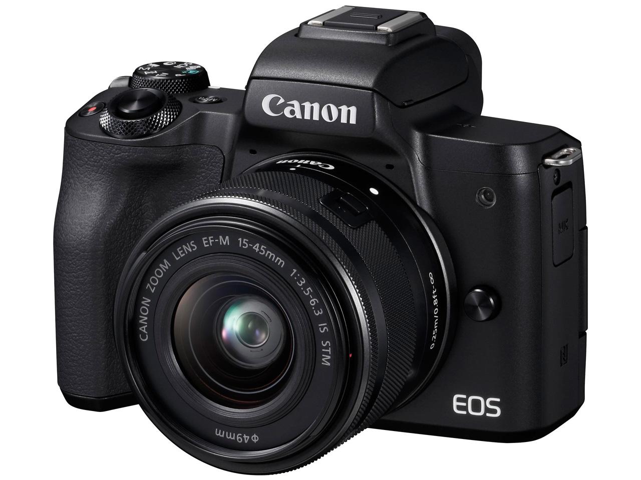 EOS Kiss M EF-M15-45 IS STM レンズキット [ブラック] の製品画像