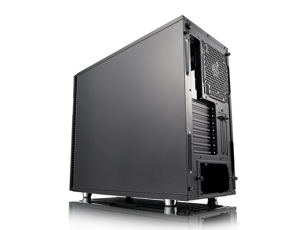 『本体 背面 斜め』 Define R6 TG FD-CA-DEF-R6-GY-TG [ガンメタル] の製品画像