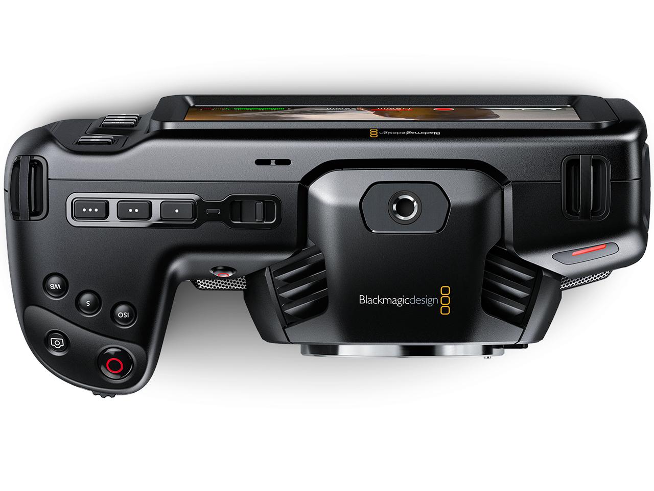 『本体 上面』 Blackmagic Pocket Cinema Camera 4K の製品画像