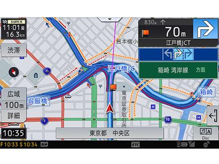 『ルート画面1』 サイバーナビ AVIC-CZ902 の製品画像
