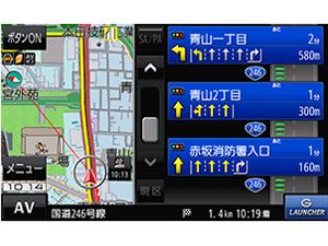 『ルート画面2』 GORILLA CN-G1200VD の製品画像