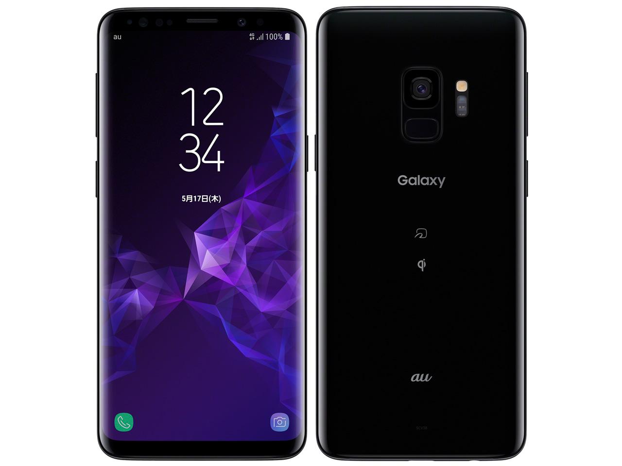 Galaxy S9 SCV38 au [ミッドナイト ブラック] の製品画像