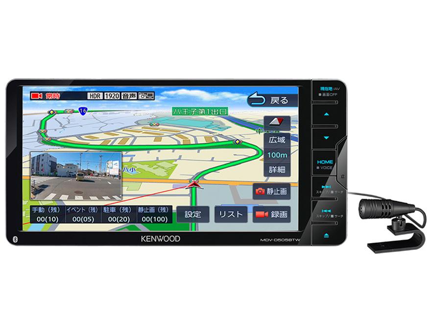 彩速ナビ MDV-D505BTW の製品画像
