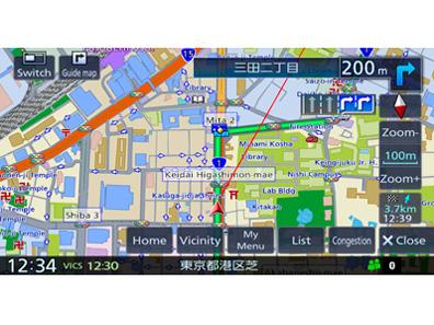 『ルート画面1』 彩速ナビ MDV-D505BTW の製品画像