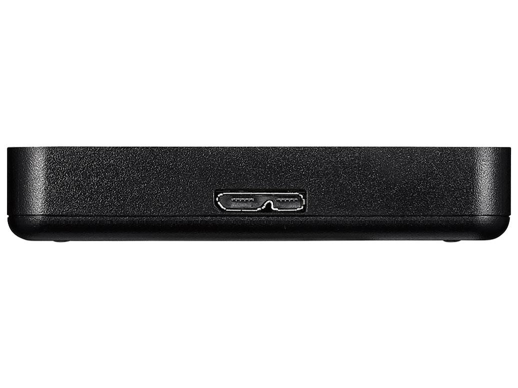 『本体 接続部分』 MiniStation HD-PCFS1.0U3-BBA [ブラック] の製品画像