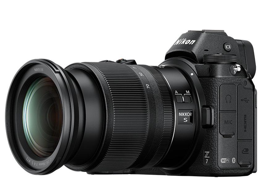『本体 斜め』 Z 7 24-70 レンズキット の製品画像