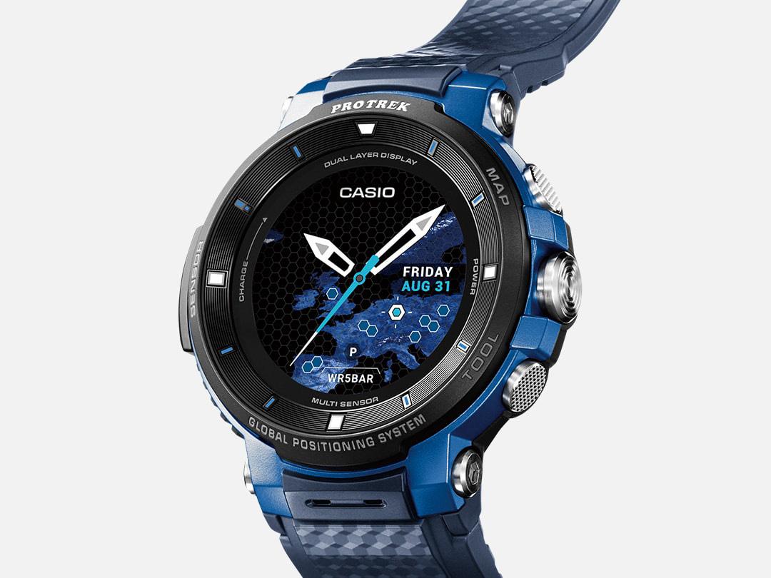 『本体 部分アップ1』 Smart Outdoor Watch PRO TREK Smart WSD-F30-BU [ブルー] の製品画像