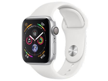 Apple Watch Series 4 GPSモデル 40mm MU642J/A [ホワイトスポーツバンド] の製品画像