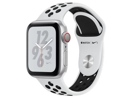 Apple Watch Nike+ Series 4 GPS+Cellularモデル 40mm MTX62J/A [ピュアプラチナム/ブラックNikeスポーツバンド] の製品画像