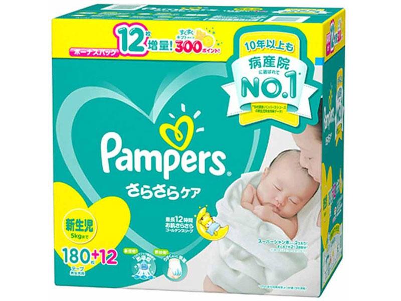 パンパース さらさらケア 新生児 180枚+12枚 クラブパック アカチャンホンポ限定モデル の製品画像