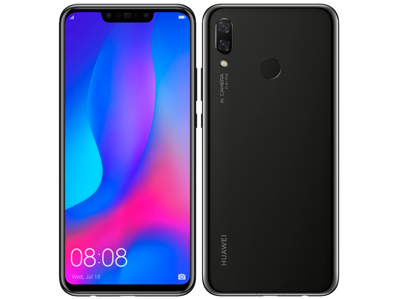 HUAWEI nova 3 SIMフリー [ブラック] の製品画像