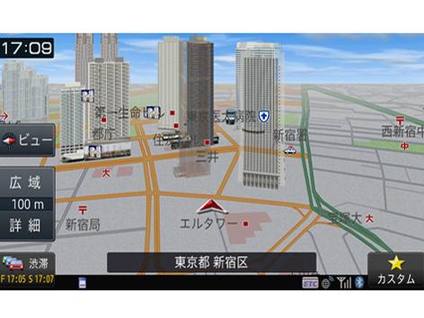 『ルート画面3』 楽ナビ AVIC-RZ902 の製品画像