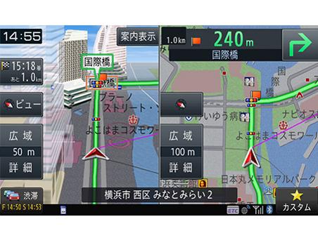 『ルート画面4』 楽ナビ AVIC-RZ902 の製品画像