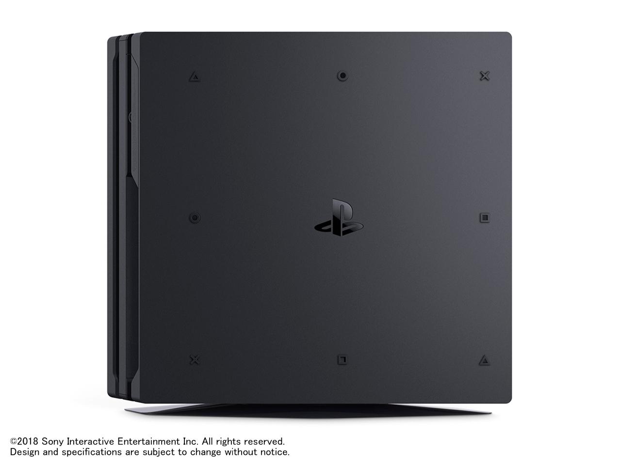 『本体 縦置き 左側面』 プレイステーション4 Pro CUH-7200CB01 [2TB] の製品画像