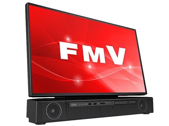 『本体 斜め』 FMV ESPRIMO FHシリーズ WF2/C3 KC_WF2C3_A032 4K液晶・TV機能・メモリ16GB・SSD 256GB+HDD 1TB・Blu-ray搭載モデル の製品画像