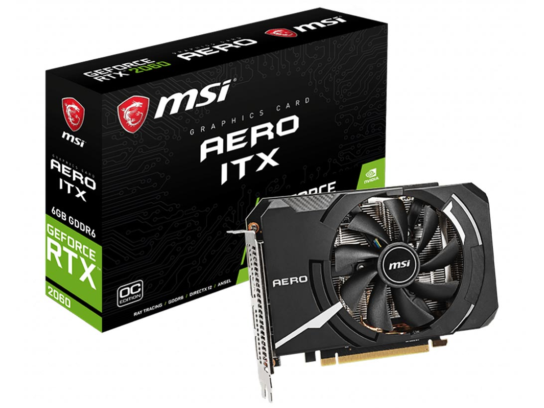 GeForce RTX 2060 AERO ITX 6G OC [PCIExp 6GB] の製品画像