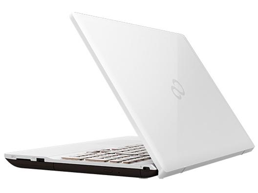 『本体 背面 斜め』 FMV LIFEBOOK AHシリーズ WA3/D1 KC_WA3D1_A057 Core i7・メモリ16GB・SSD 256GB+HDD 1TB・Office搭載モデル [プレミアムホワイト] の製品画像