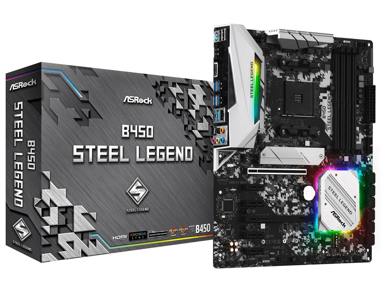 『本体 パッケージ』 B450 Steel Legend の製品画像