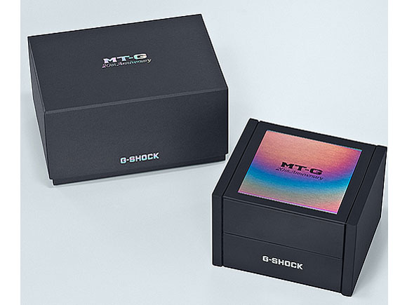 『パッケージ』 G-SHOCK MT-G 20周年記念モデル MTG-B1000RB-2AJR の製品画像