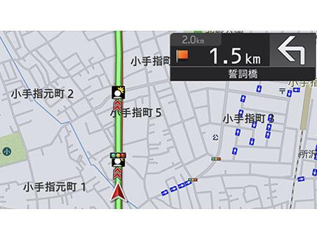 『ルート画面3』 楽ナビ AVIC-RL910 の製品画像