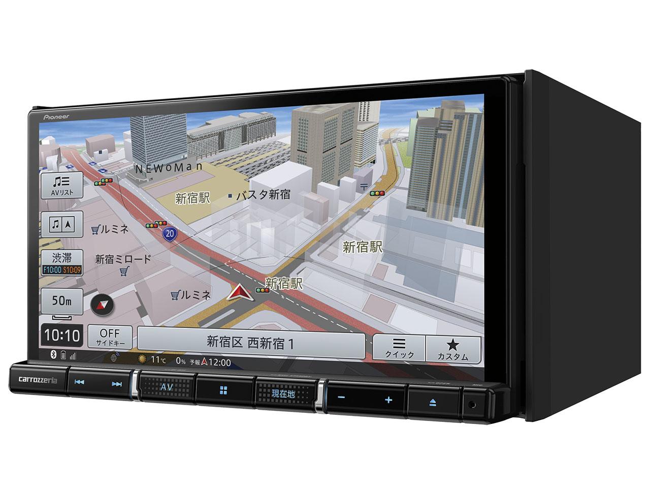 『本体 斜め1』 楽ナビ AVIC-RZ710 の製品画像