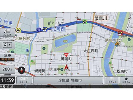 『ルート画面2』 楽ナビ AVIC-RZ710 の製品画像