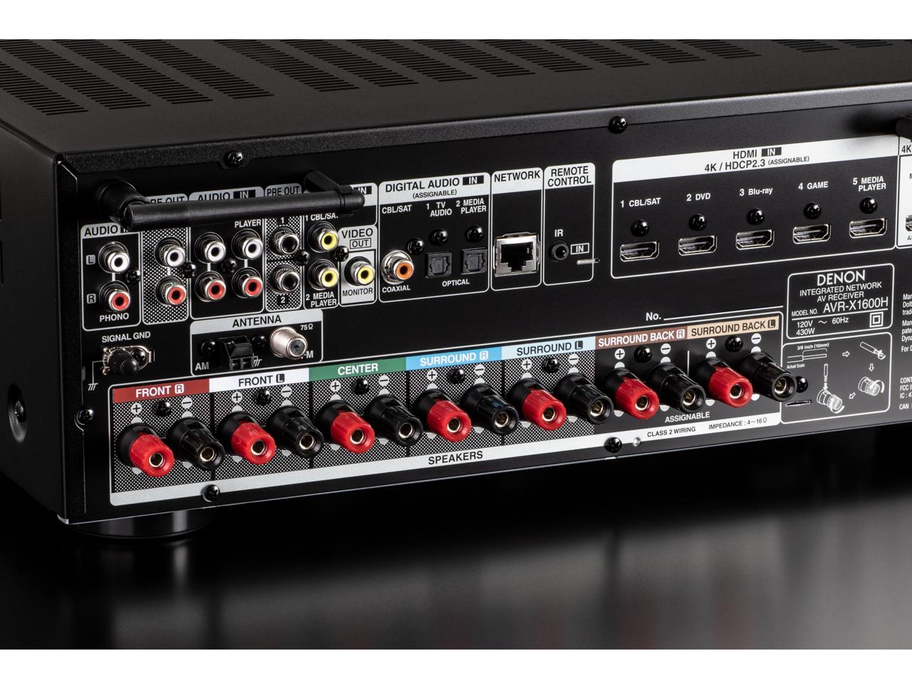 『本体 接続部分』 AVR-X1600H の製品画像